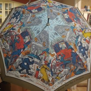 Burberry umbrella with sleeve.